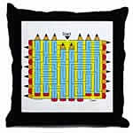 Pencil Maze Pillow