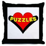 Puzzle Heart Pillow