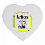 Writers Write Heart Ornament
