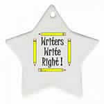 Writers Write Star Ornament