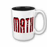 Red Math Text Mug